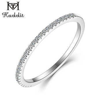 Kuololit 10K Solid Gold 100% Moissanite Rings for Women 100% Hand Setting Lab Grown Diamonds Rings Engagement bride Fine Jewelry - DISCOUNT ITEM  35% OFF All Category
