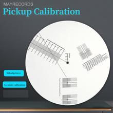 New Anti sliding LP Vinyl  Pickup Calibration Plate Distance Gauge Protractor Adjustment Tool Ruler for Turntable Accessor