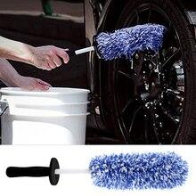 New 42cm Car Wheel Brush Spoke Rim Cleaning Brush Microfiber Wheel Cleaner Car Detailing Car Wheel Cleaning Brush Car Care Tool