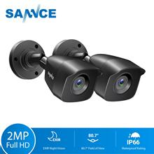 SANNCE 2 قطعة 1080P CCTV كاميرات أمنية 2.0MP في الهواء الطلق الرئيسية كاميرا مراقبة فيديو نظام الدائرة التلفزيونية المغلقة