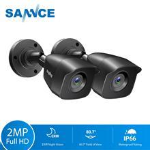 SANNCE 2PCS 1080P אבטחת CCTV מצלמות 2.0MP חיצוני בית מעקב וידאו מצלמה טלוויזיה במעגל סגור מערכת