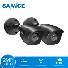 SANNCE 2PCS 1080P CCTV Security Cameras 2.0MP Outdoor Home Video Surveillance Camera CCTV System