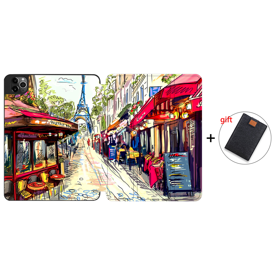 IPTPU13 Orange MTT Soft TPU Case For iPad Pro 11 inch 2nd Gen 2020 Tablet PU Leather Flip