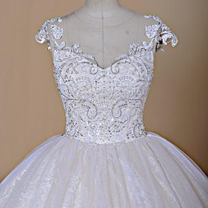 Image 3 - 2020 Nieuwe Luxe Desgin Trouwjurken Korte Mouwen Bruid Dress Custom Made Dubai Trouwjurk Fabriek Direct Baljurk