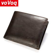 Small Wallet Men Genuine Leather Purses Cowhide Mini Wallets Black and Coffee Quality Guarantee Short Bifold Wallets Card Holder comics halo for man wallets games purses leather money and photo slot credit card holder 3d wallets bifold short boys wallets