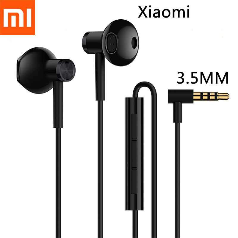 Xiaomi Mi Dual Unit Hi-Res 3.5MM In-Ear Earphone HandsFree/Mic Stereo Earbuds For Mi 5 5X 6X Redmi Note 4 5 6 7 8 Pro A2 A3 CC9