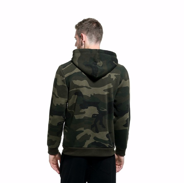 Men's Pullover Camouflage Hoodies Fashion Military Style Fleece Hooded Coat Men Casual Camo Hoody Spring Autumn Slim Sweatshirts
