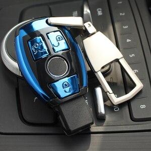 Image 5 - Abs Auto Nieuwe Auto Styling Afstandsbediening Sleutel Shell Key Case Cover Met Sleutelring Gesp Voor Mercedes Benz C klasse W205 Glc Gla