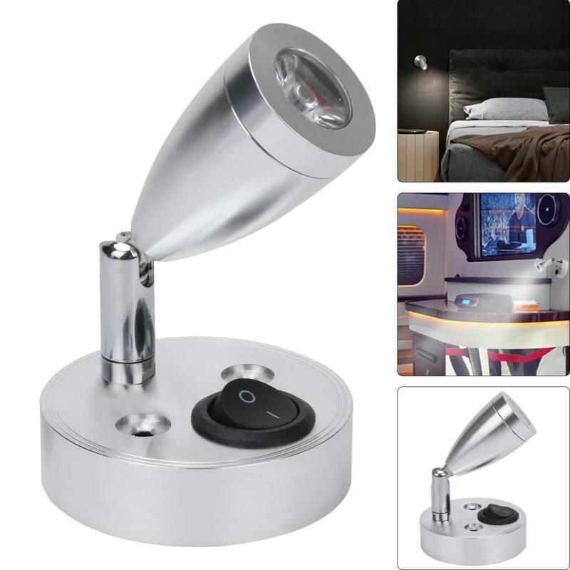 Hoge Kwaliteit Led Spot Leeslamp Schakelaar Voor Camper Caravan Boot Camper Interieur Warm Licht Auto Accessoires