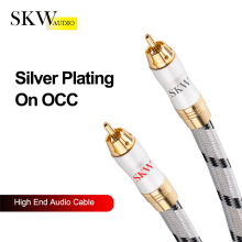 SKW High End Hifi RCA Cable 1RCA to Male To Audio Silver Plating On OCC Fit For CD DVD Player Power Amplifier