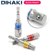 3 Pcs Drill Socket Adapter Impact Drill Extension Drill Bits Bar Socket Adapter 1/4 3/8 1/2 Size Hex Shank Square Head Drill Bit