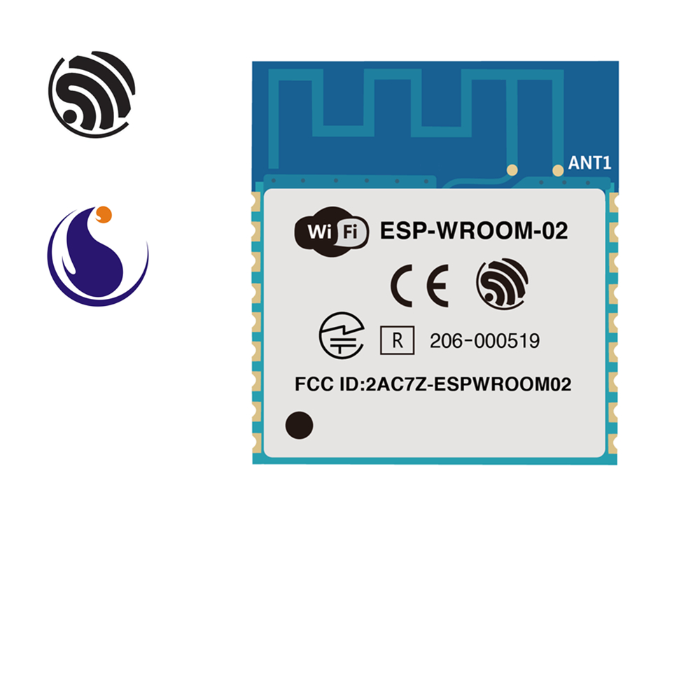 ESP-WROOM-02 Espressif Systems SoC Single-core 2.4 GHz Wi-Fi Module ESP8266EX Chip AIoT Smart Home Internet Of Things