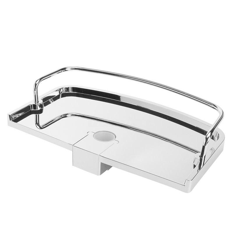 Bathroom Pole Shelf Shower Storage Caddy Rack Organiser Tray Holder, Dia 25Mm