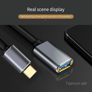 Image 2 - USB C OTG Data Cable Metal Type C Male to USB 3.0 Female Extension Converter For Samsung S10 For Xiaomi Mi8 Huawei Mate 20