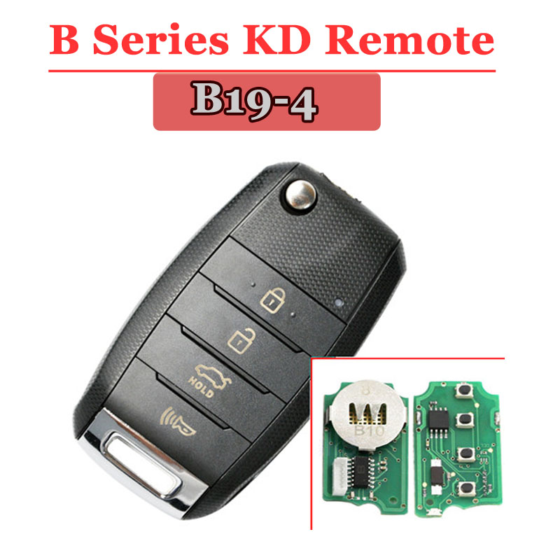 Free Shipping(1 Piece) KD900 Remote Key B19 4 Button Universal Remote Control B Series Key For KD900,URG200,KD900+machine