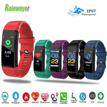 Bracelet Fitness-Tracker Smart-Wrist-Band 115plus Heart-Rate Blood-Pressure Sport Android