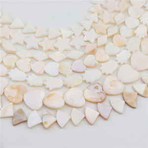 Louleur Heart Star Shell beaded accessories White Natural Mother of Pearl Shell beads Rounded Oval Rectangle Beads Jewelry DIY
