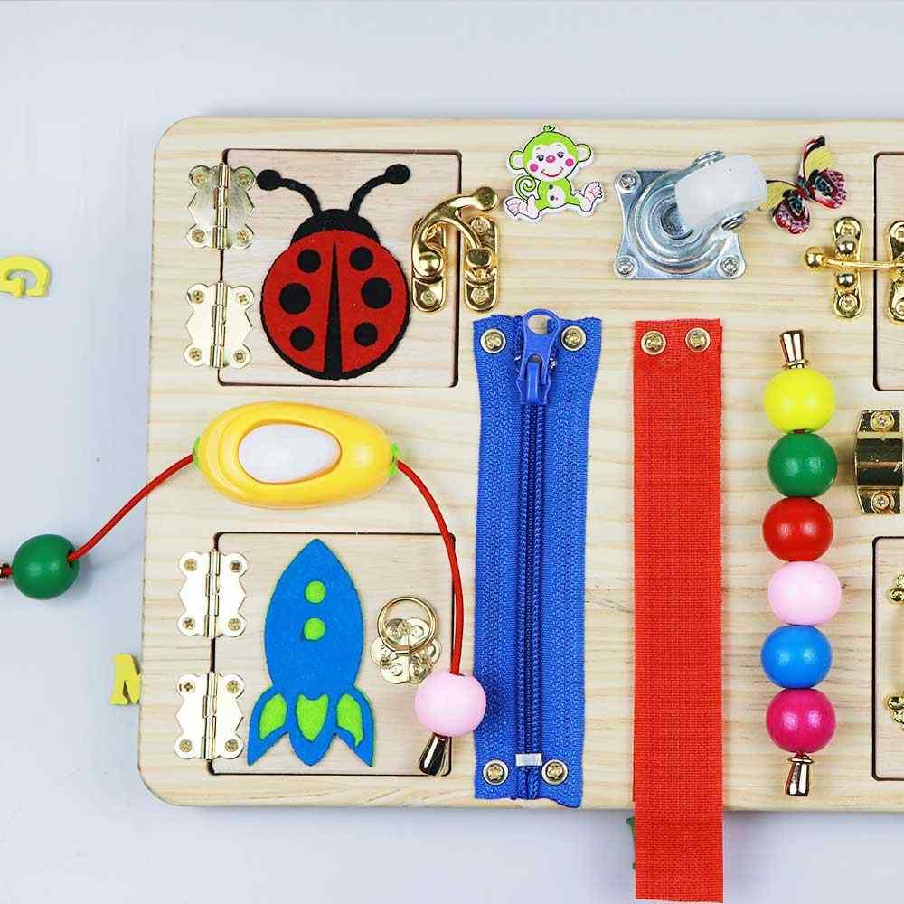 Bolsa de juguete de tablero ocupado de educaci/ón infantil temprana Montessori