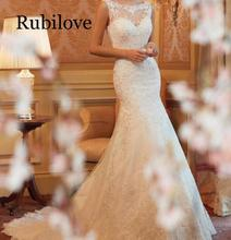 Rubilove 2019 backless European and American dress lace fishtail large size trailing slim elegant sexy