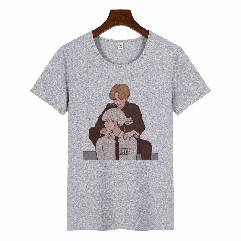 Desenhos Animados Gráfico Impressão Top Tee Camisa Casual T