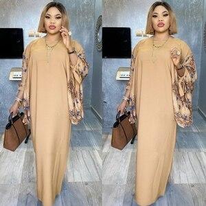 Платья в африканском стиле для женщин 2020, летнее Повседневное платье большого размера, винтажное длинное атласное платье с цветочным принт...