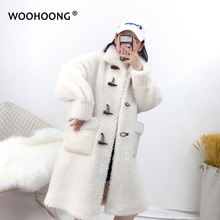 Зимние гранулы стрижки овец пальто с мехом женские Обувь овечьей