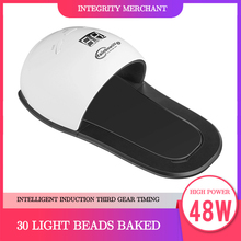 48W UV LED Lamp Nail Dryer For Hand Foot Gel Polish Curing Drying Fingernail Toenail Led Lamp Polish Manicure Nail Art Tool 48w nail lamp 2in1 smart phototherapy electric machine nail dryer for curing nail gel polish led uv lamp for hand and foot