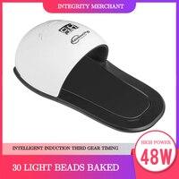 48W UV LED Lamp Nail Dryer For Hand Foot Gel Polish Curing Drying Fingernail Toenail Led Lamp Polish Manicure Nail Art Tool