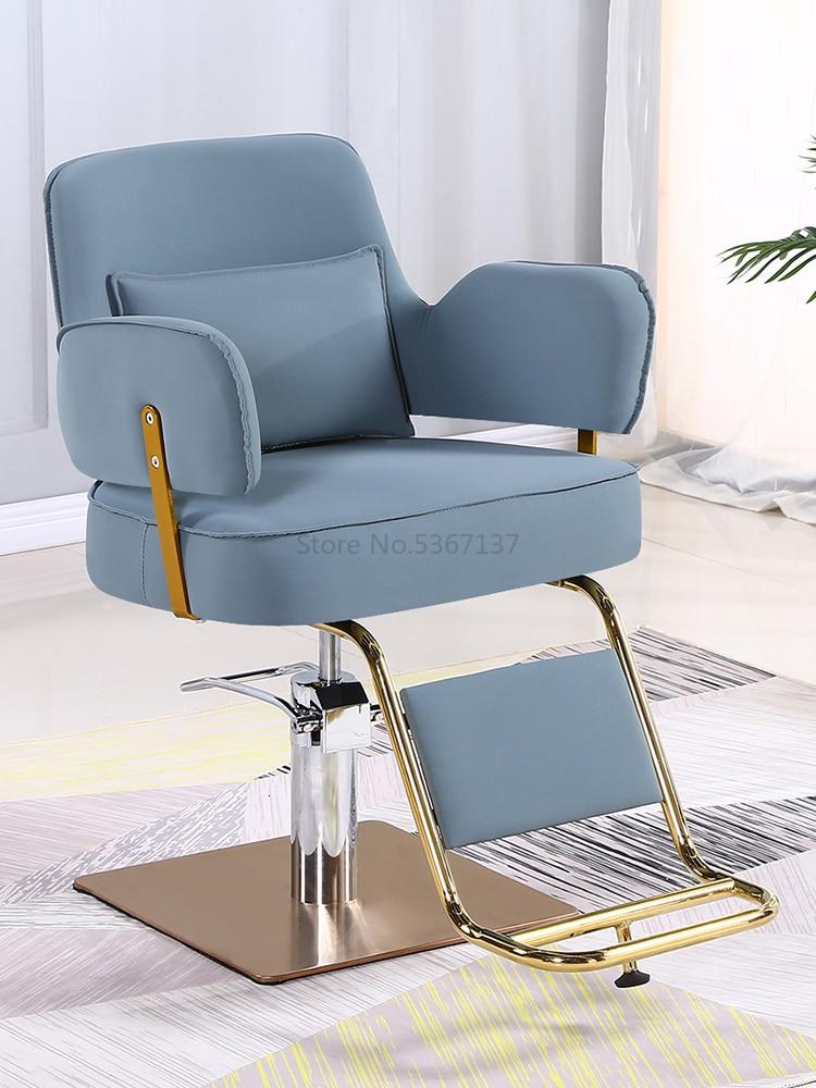 New Net Red Hairdressing Chair, Chair, Hair Salon, Hairdressing Chair, Rotatable Lifting Hairdressing Chair, Haircut Chair