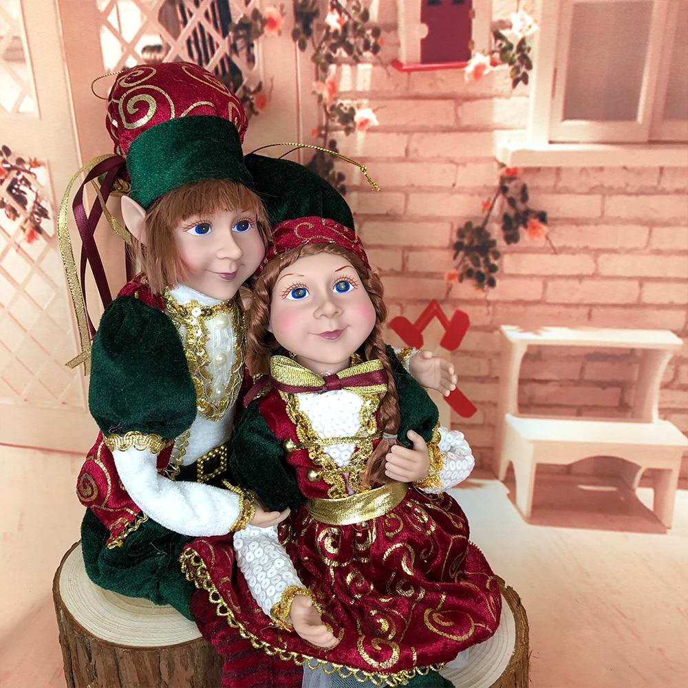 Рождественские рождественские эльфы, плюшевые эльфы, куклы, рождественские украшения, детские игрушки, новогодние подарки, подвесные украш...
