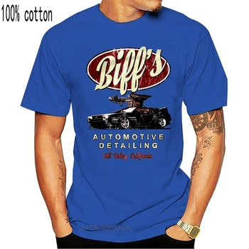 T SHIRT BIFFS AUTOMOTIVE DETAILING BACK TO THE FUTURE IN DIE ZUKUNFT DOC 100% Cotton Short Sleeve O-Neck Tops Tee Shirts Print image