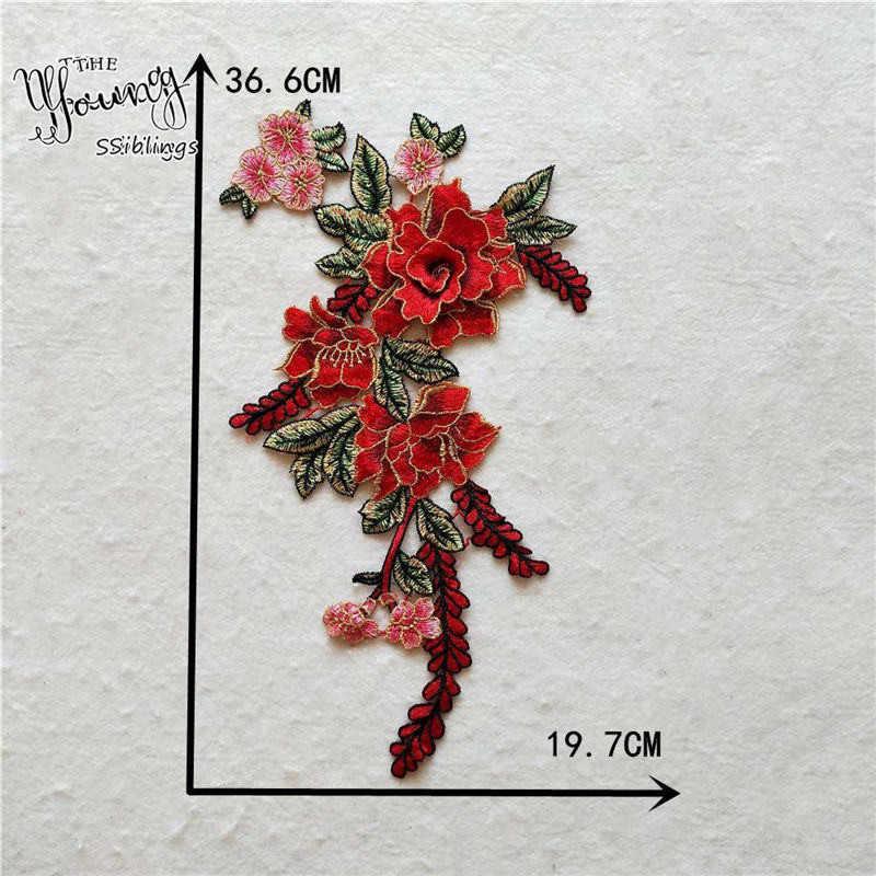 Melhor venda rosa flor laço decote costura applique requintado decoração rendas colar bordado tecido acessórios de roupas