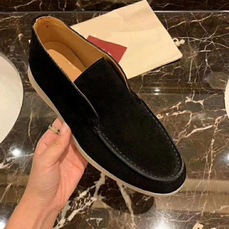 Autumn New High Top Loafers Kid Suede Casual Flat Shoes Women Round Toe Slip-on Female Driving Shoes Lazy Loafers Shoes Women