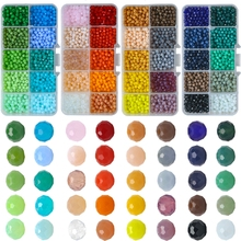 1000pcs/box 4mm Wholeslae Briolette Crystal Rondelle Beads Faceted Austria Glass Round Embroidery for Jewelry Making Supplier