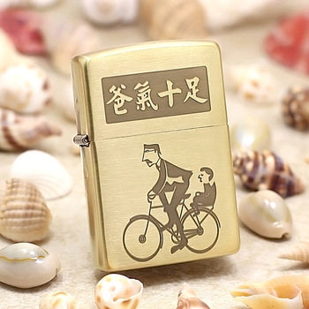 Genuine Zippo oil lighter copper windproof Papa's love Father's Day cigarette Kerosene lighters With anti-counterfeiting code