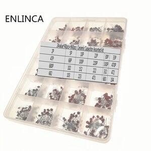 Image 2 - 960 adet/grup seramik kapasitör çeşitler kiti 2PF 0.1UF 50V seramik kapasitörler seti 24 değer * 40 adet diy elektronik kapasitörler 20%
