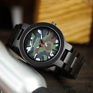 Image 3 - Bobo Vogel Horloge Man Houten Klaring Prijs Promotie Quartz Wristwatche Mannelijke Relogio Masculino Groothandel Hoge Kwaliteit