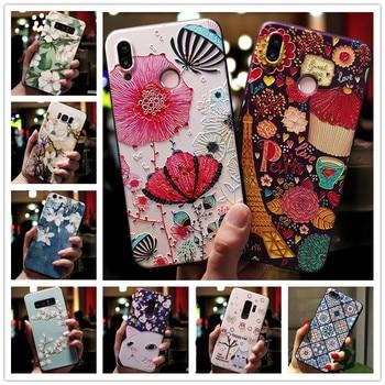 Перейти на Алиэкспресс и купить Силиконовый чехол для телефона Doogee X90, чехол с 3D тиснеными цветами Для Doogee X90L, чехол Y8C 6,1 дюйма Y8, мягкий чехол X 90 90L Y 8C 8