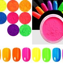 Luminous Nail Pigment Glitter-Powder Neon-Phosphor-Powder-Set Acrylic for 8PCS