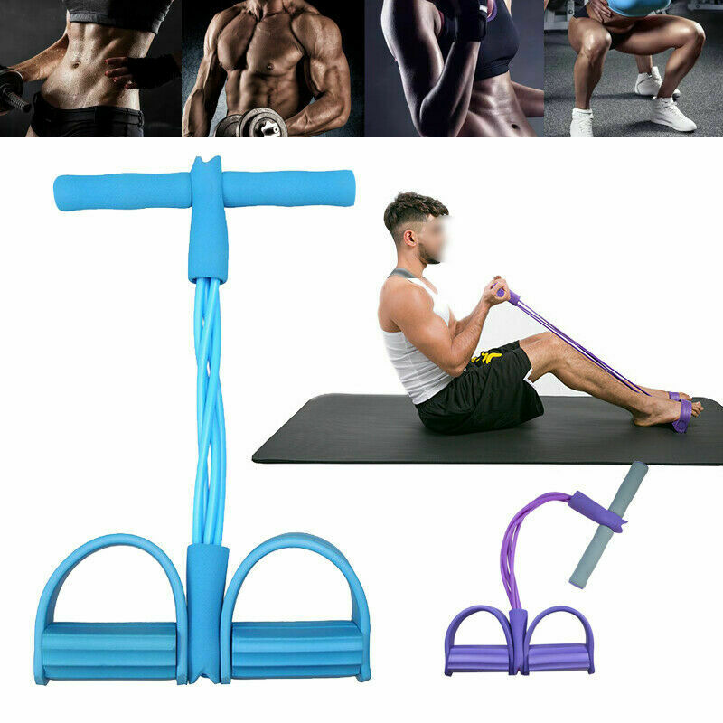 Multi-functional Adjustable Push-pull Rope 4-strand Sit-up Tensioner Fitness Accessories