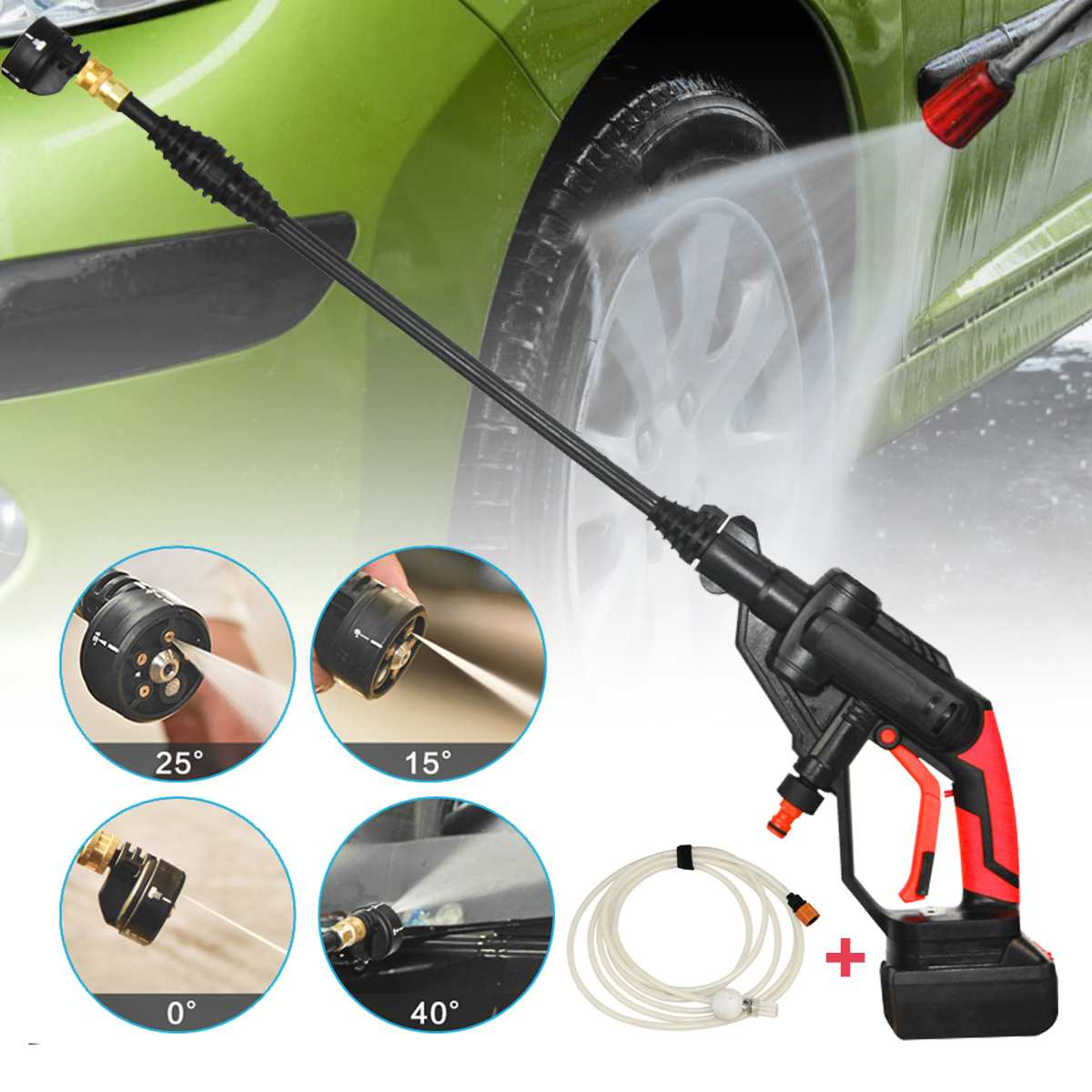 Nozzle-Pump Pressure-Cleaner Battery Cordless Washer Sprayer-Water-Hose Portable
