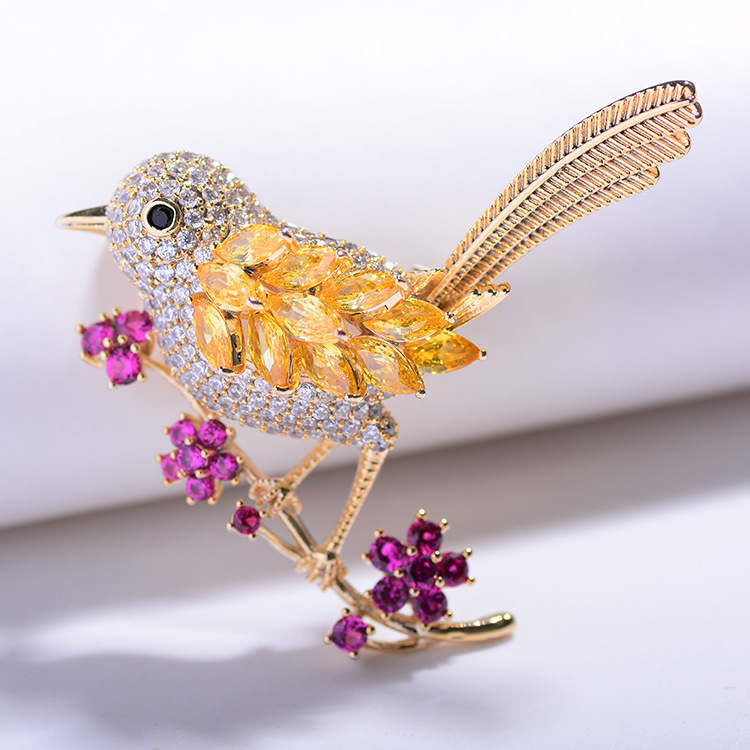 Bird Brooch Pins Magnet Pin Cute Pins Accessories for Clothes Decoration Brooch Pins Fine Jewelry Copper Brooch Zircon Brooche-2