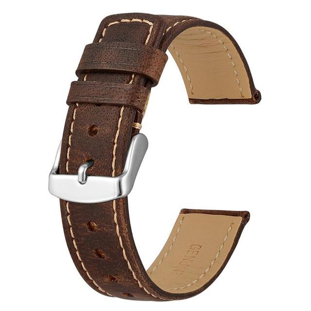 Anbeer Leder Ersatz Band 18mm 20mm 22mm Crazy Horse Leder Armband Vintage Retro Stil Gürtel Armband für Männer Frauen