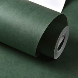 Однотонный цветной нетканый материал спальня гостиная обои простые однотонные украшения отеля темно-зеленые серые обои