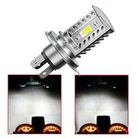 H4 15W CSP 9SMD LED Motorcycle Headlight Bulb HID Hi/Low Beam 1600LM High Power|  -