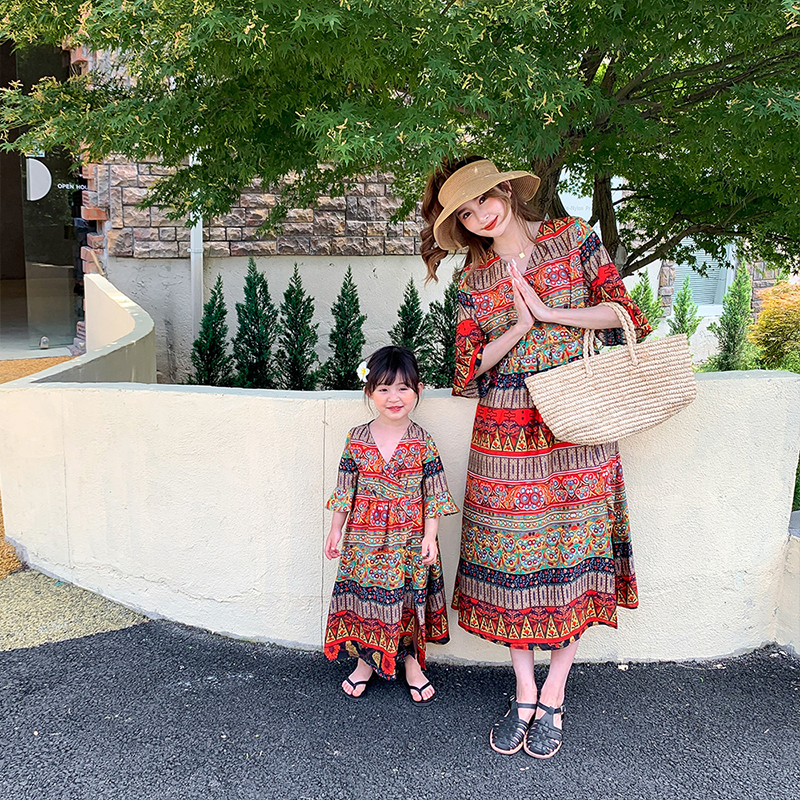 Mommy and Me Clothes Mother-daughter Bohemian Beach Vacation Beach Dress Mother and Daughter Clothes Family Matching Clothes