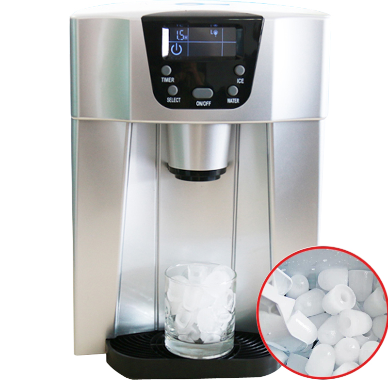 Household Portable MinI Cube Ice Maker Machine Automatic Ice-dropping Multi-function Ice Making Machine And Ice Water Integrated