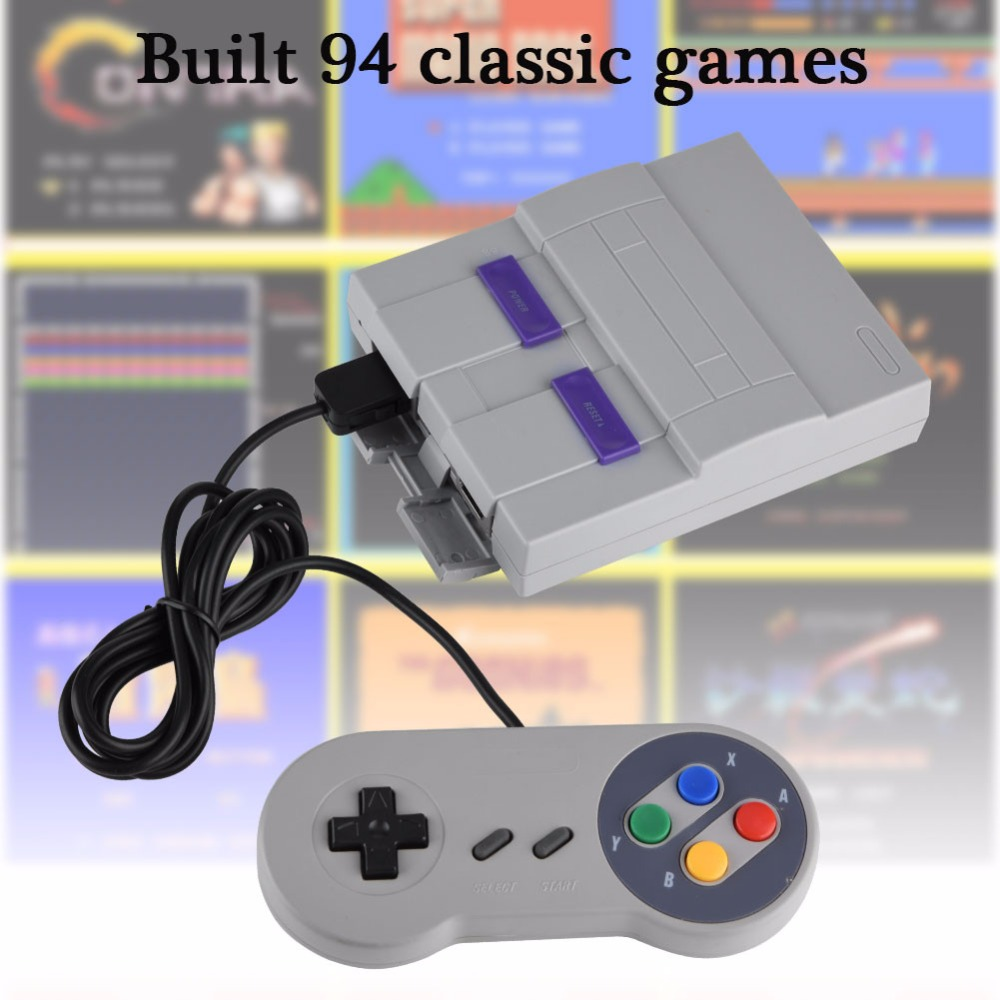 2019 new Super Mini 16 BIT Built-in 94 Games Console System with Gamepad for SNES Nintendo Game Games Consoles