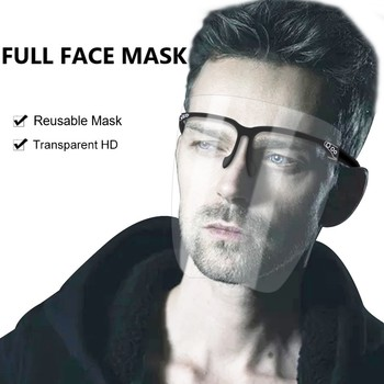 1PC Transparent Face Mask For Adults Reusable Washable PC Material Anti Dust Full Face Mask Goggles Sunglasses Face Mask TSLM1 1