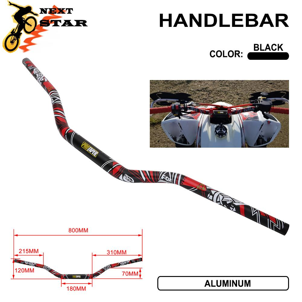 Universal 1 1//8 Fat Bar 28MM Handlebars Handle Bar For Protaper Pro Taper Motorcycle Motocross Pit Dirt Bike ATV KTM EXC CRF WRF YZF KLX RMZ Black